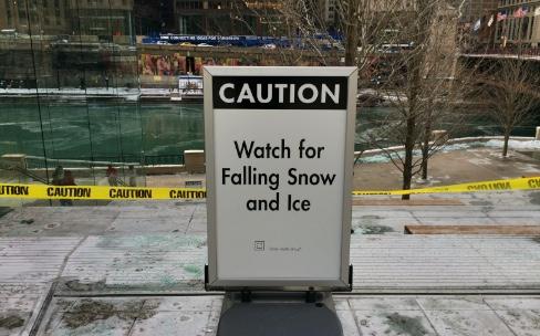 L'Apple Store de Chicago n'a pas été conçu pour la neige