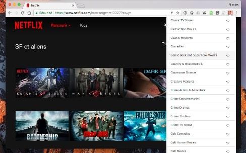 Une extension Chrome révèle les sous-catégories Netflix