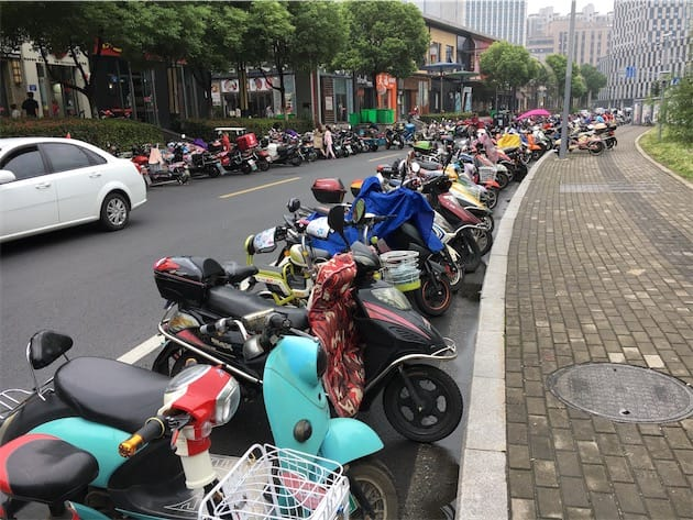 Scooters à Changzhou