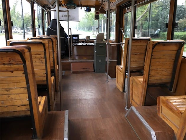Bus de Chengdu en bois