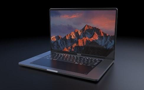 Concept: un MacBookPro avec un écran en guise de clavier