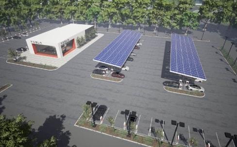 Tesla va créer des parkings de recharge pour la Model3