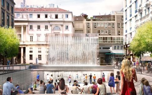 Milan : sous les pavés l'Apple Store