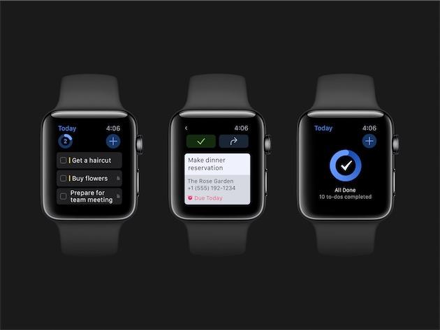 Le module Apple Watch de Things 3. Image Cultured Code.
