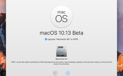 macOS 10.13 : le passage à APFS est optionnel