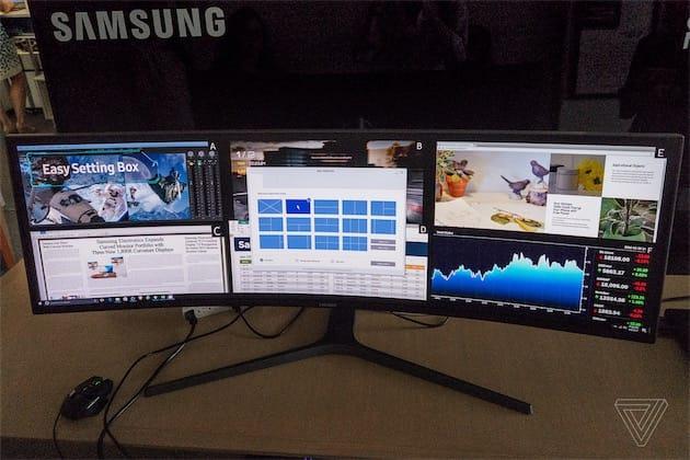 Samsung a coll deux crans full hd sur ce moniteur 49 for Meilleur moniteur 24 pouces
