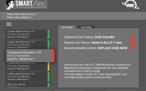 OWC prépare un utilitaire qui surveille les disques durs et SSD