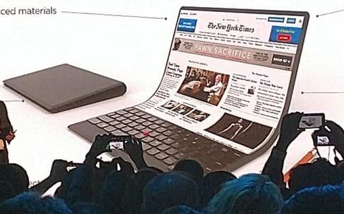 Lenovo a imaginé un ordinateur portable avec un écran souple