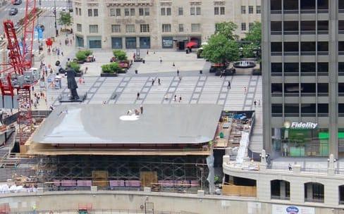 Un MacBook comme toit pour l'Apple Store de Chicago
