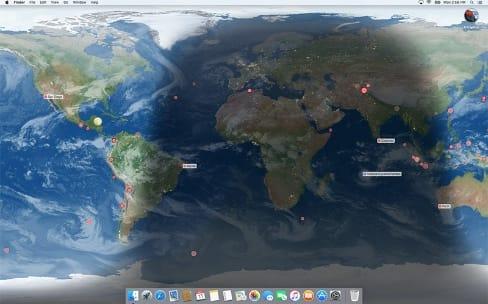 Des œuvres d'art et la Terre en fonds d'écran sur votre Mac