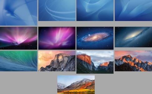 Tous les fonds d'écran par défaut de macOS en qualité Retina