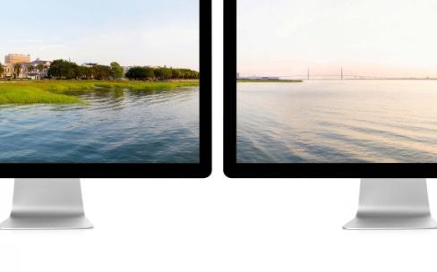 Des fonds d'écrans panoramiques pour les Mac à deux moniteurs