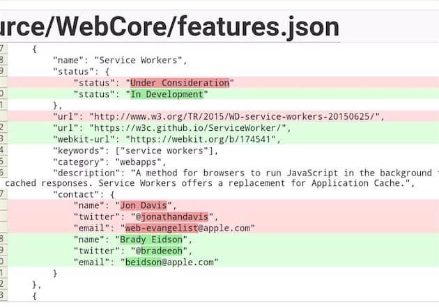 Changement de statut pour le projet sur le site de versionnement de Webkit: l'implémentation des Service Workers n'est plus considérée, elle est active. Cliquer pour agrandir