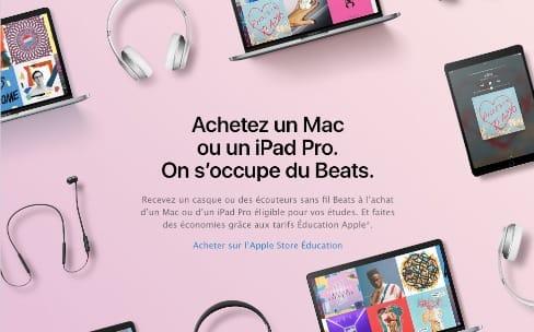 Back to School: un Beats offert pour l'achat d'un Mac ou d'un iPad Pro [MàJ]