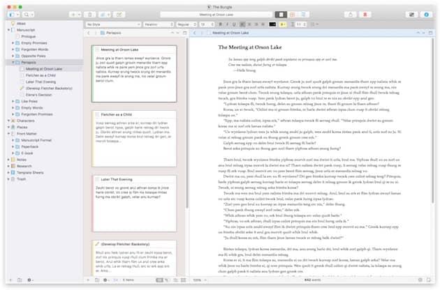 Scrivener 3 sera une mise à jour payante, sans abonnement récurrent. Cliquer pour agrandir