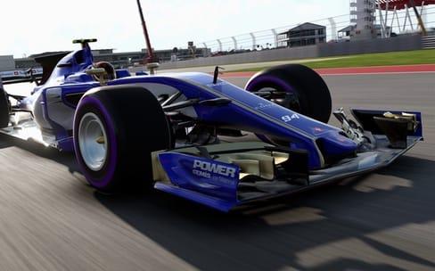 F1 2017 : traces de pneu sur le Mac