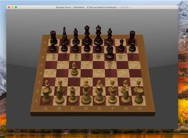 Le jeu d'échecs de macOS. Cliquer pour agrandir