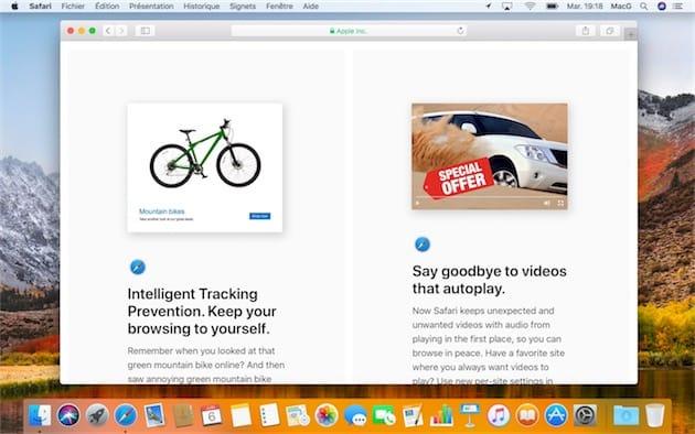 Safari 11 est disponible pour macOS Sierra et OS X El Capitan