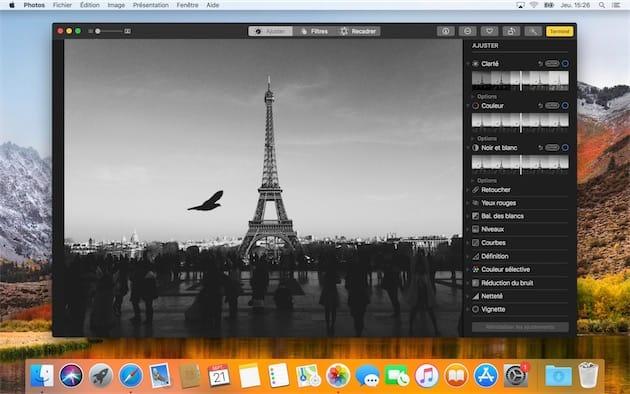 Les outils d'édition avancés de Photos, une nouveauté de macOS High Sierra.