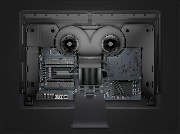 L'intérieur de l'iMac Pro. Image Apple.