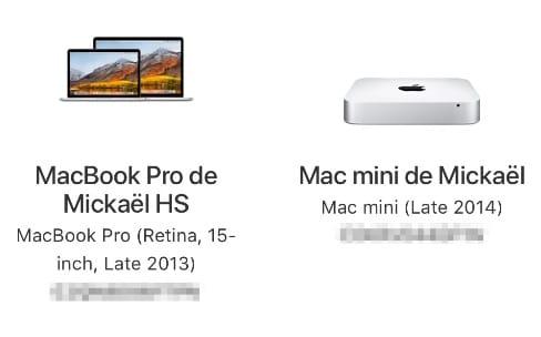 Il est plus facile de consulter la couverture de tous ses appareils Apple