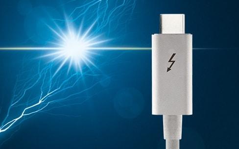 Thunderbolt 3: un nouveau contrôleur compatible DisplayPort 1.4 et plus copain avec le MacBook USB-C