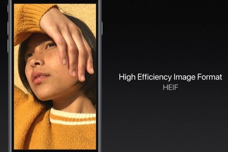macOS10.13.4 peut également créer des fichiers HEIF