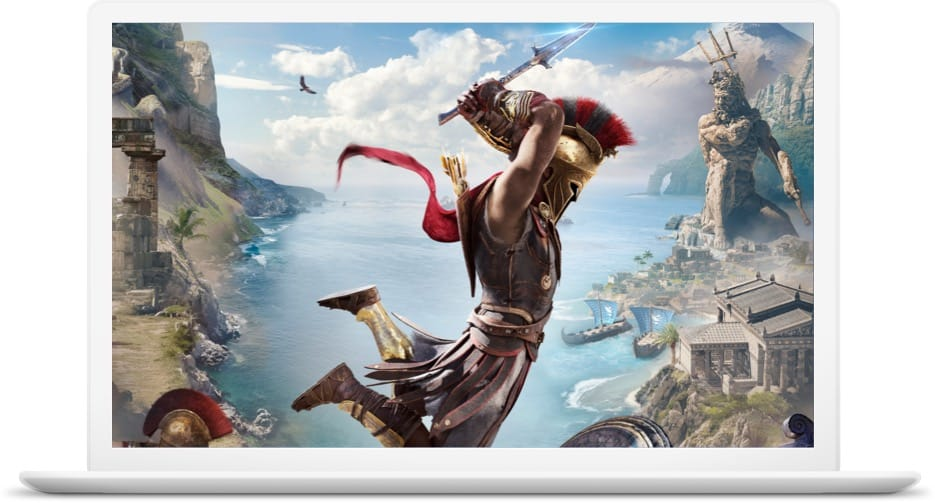 Assassin's Creed Odyssey dans Google Chrome — Project Stream