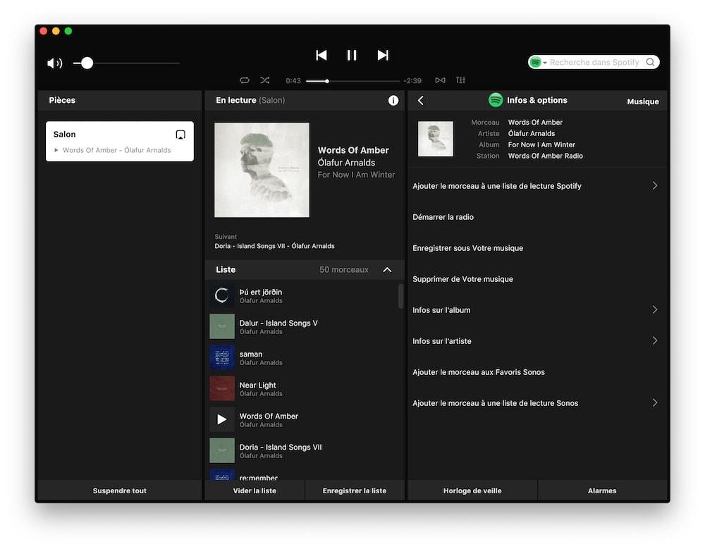 logiciel sonos pour mac