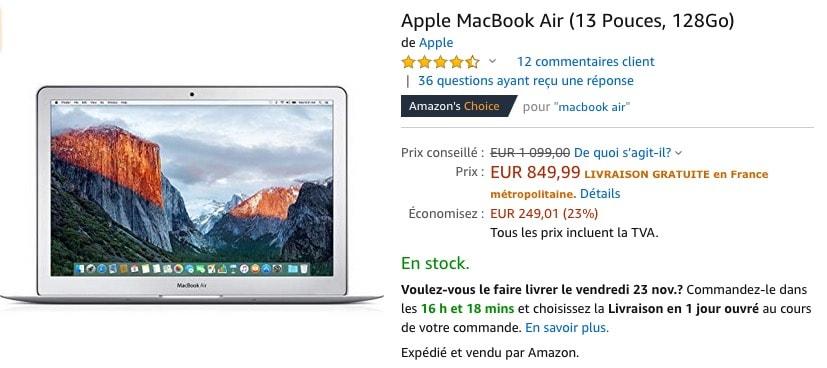 Black Friday Le Macbook Air 2017 A 850 Macgeneration