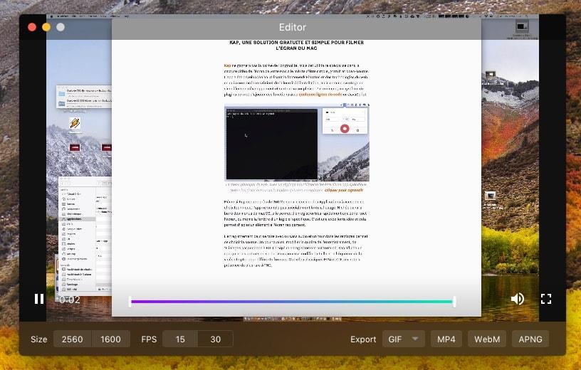 Kap une solution gratuite et simple pour filmer l cran for Mac fenetre hors ecran