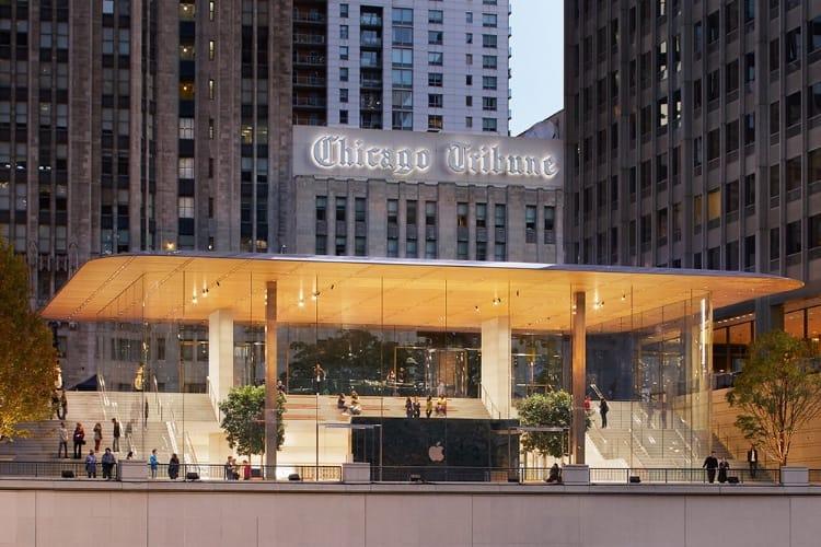 Apple Store de Chicago : des nouvelles des fissures sur la paroi en verre