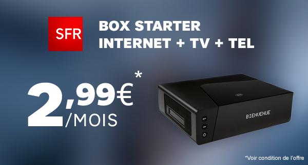 La Box Starter De Sfr A 2 99 Par Mois Et La Freebox Encore A 4 99