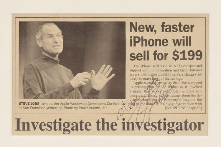 Des documents rares signés Steve Jobs mis aux enchères