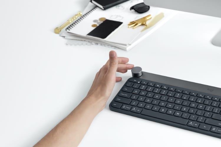 Logitech : un kit de développement pour la molette du clavier Craft