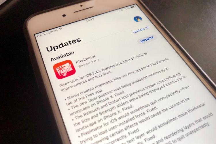 Les notes de version de l'AppStore devront être validées lors des mises à jour