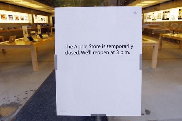 L'Apple Store a fermé ses portes