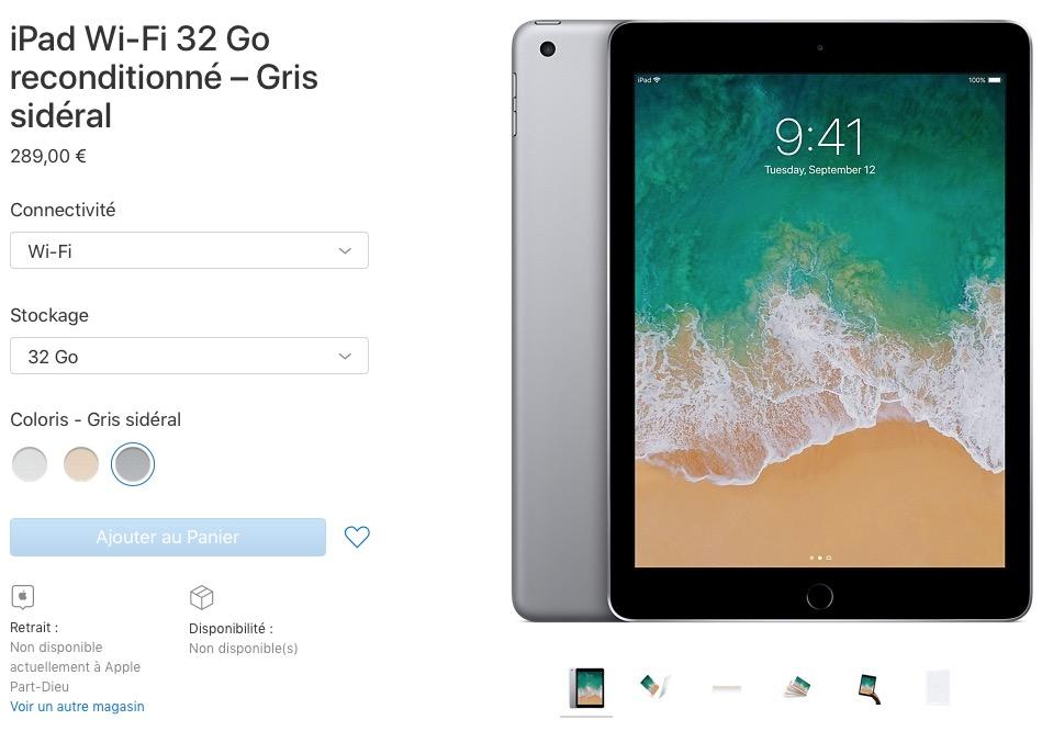 Des iPad vendus avec la même garantie d un an que les modèles neufs. Sauf  que pour le moment les stocks sont à zéro. 0bfded779e6c