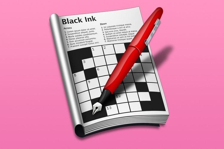 Black Ink 2, un bon logiciel de mots croisés sur Mac