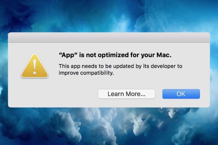 Sous macOS, les logiciels 32 bits sentent de plus en plus fort le sapin