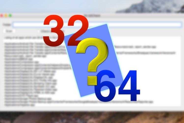 32-bitCheck liste toutes les apps 32bits sur votre Mac
