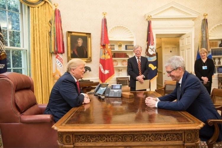Tim Cook a dit ses quatre vérités à Donald Trump dans le bureau ovale