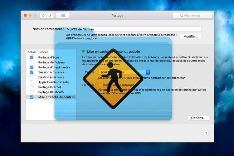 Comment obtenir des informations sur la mise en cache de contenu de macOS?