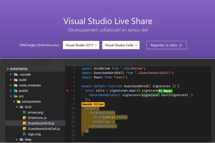 Microsoft active les outils de collaboration dans son éditeur de code