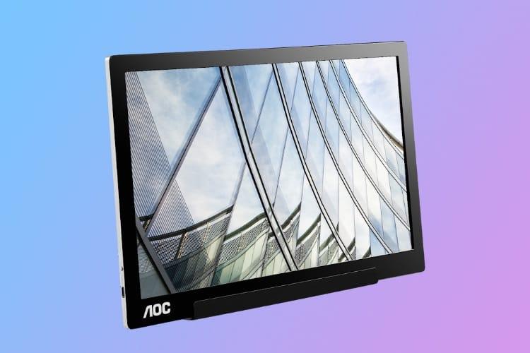 Nouvel écran transportable en USB-C chez AOC