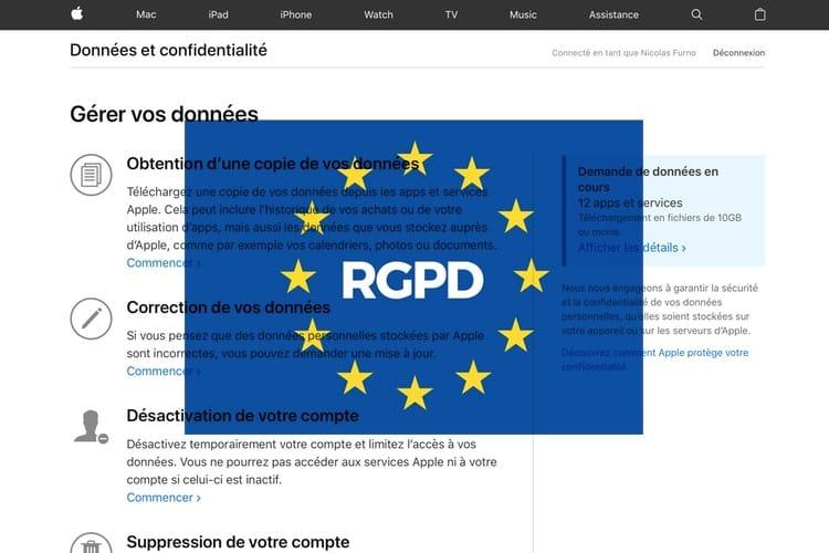RGPD: Apple permet de télécharger toutes ses données personnelles