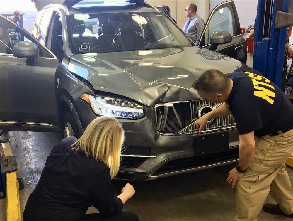 Le système de freinage d'urgence n'était pas activé — Accident mortel d'Uber