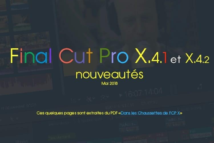 De nouvelles Chaussettes pour Final Cut Pro X 10.4.1 et 10.4.2