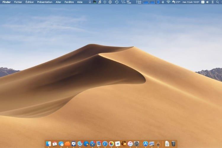 Un nouveau fond d'écran dynamique officieux pour macOS Mojave