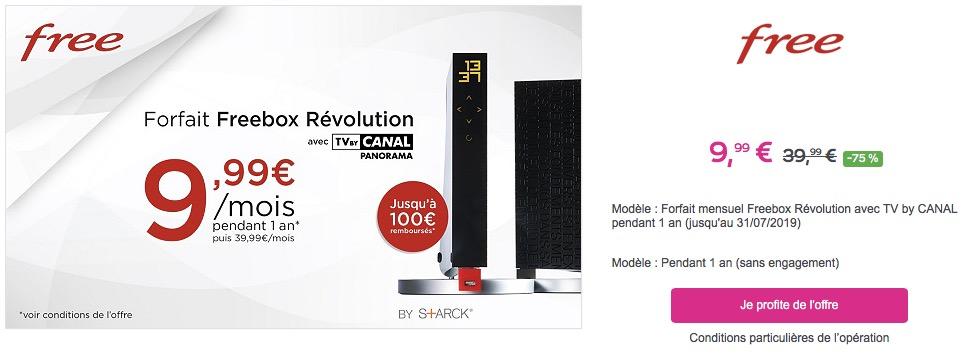 Promo La Freebox Revolution à 10 Par Mois Pendant Un An